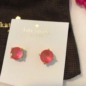 Kate Spade pink gem stud earrings